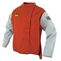 Elliotts WAKATAC Proban Welding Jacket with Chrome Leather Sleeves