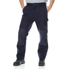 Workit Active Utility Duck Weave Canvas Cordura Pants - Navy