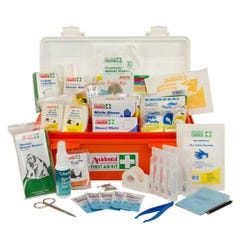 Accidental Health & Safety Code of Practice First Aid Kit Polypropylene Portable Orange/White