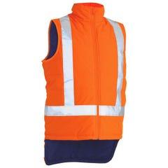 Bisley TTMC-W X Taped Hi Vis Puffer Vest - Orange