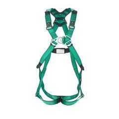 MSA V-Form Harness steel Hardware, Back&chest D-ring,shoulder Loop,quick-fit Buckle,as/nzs Version, green Color - Medium