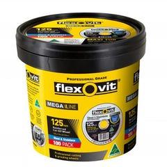 Flexovit Cut-off Wheel Mega Inox Cut-off Tub Type 41 AO 125mm x 1mm x 22.23mm
