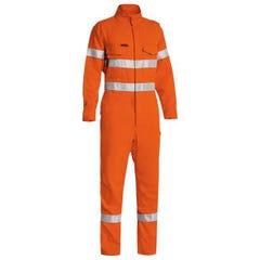 Bisley Tecasafe Plus 580 Taped Hi Vis Engineered FR Vented Coverall - Orange