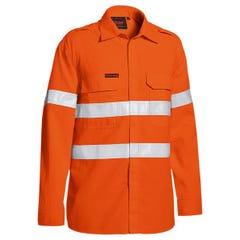 Bisley Tencasafe Plus 480 Taped Hi Vis Lightweight FR Vented Shirt - Orange
