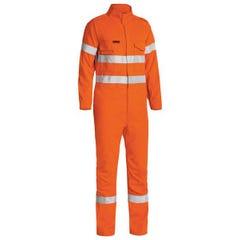 Bisley Tecasafe Plus Taped Hi Vis FR Engineered Vented Coverall - Orange