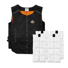 Chill-Its 6260 Lightweight Phase Change Cooling Vest with Packs L/XL