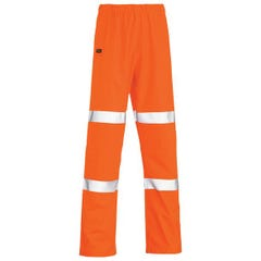 Bisley Taped Stretch PU Rain Pant - Orange