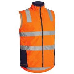 Bisley Taped Hi Vis Soft Shell Vest - Orange / Navy