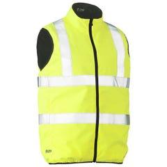 Bisley Taped Hi Vis Reversible Puffer Vest - Yellow