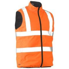 Bisley Taped Hi Vis Reversible Puffer Vest - Orange