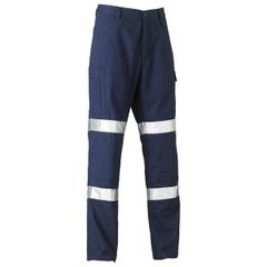 Bisley 3M Biomotion Double Taped Cool Light Weight Utility Pant - Navy