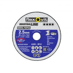 Flexovit Cut-off Wheel General Purpose Metal Type 41 AO 51mm x 2.5mm x 10mm