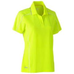 Bisley Womens Cool Mesh Polo Shirt - Yellow