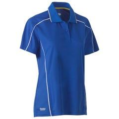 Bisley Womens Cool Mesh Polo Shirt - Royal