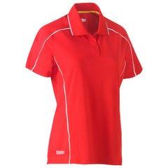 Bisley Womens Cool Mesh Polo Shirt - Red