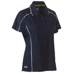 Bisley Womens Cool Mesh Polo Shirt - Navy