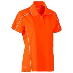 Bisley Womens Cool Mesh Polo Shirt - Orange