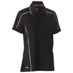 Bisley Womens Cool Mesh Polo Shirt - Black
