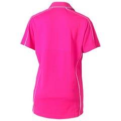 Bisley Womens Cool Mesh Polo Shirt - Pink