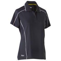 Bisley Womens Cool Mesh Polo Shirt - Charcoal