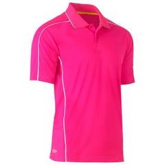 Bisley Cool Mesh Polo Shirt - Pink
