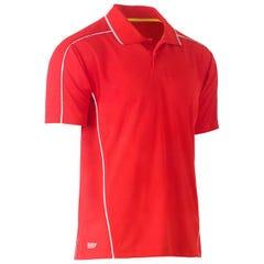 Bisley Cool Mesh Polo Shirt - Red