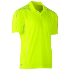 Bisley Cool Mesh Polo with Reflective Piping - Yellow