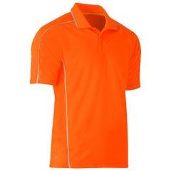 Bisley Cool Mesh Polo Shirt - Orange