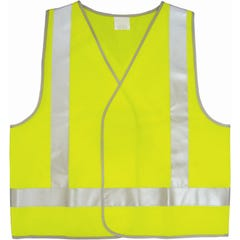 UniSafe Hi-Vis Day And Night Safety Vest Lime / Yellow 2XL