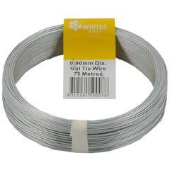 Whites Galvanised Tie Wire Wirepak 0.90mm x 75m