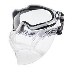 Scope Optics Spartan Grey Frame Safety Goggles With Clear Visor