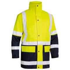 Bisley 5 In 1 Rain Jacket - Yellow / Navy