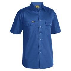 Bisley Cool Lightweight Drill Shirt - Short Sleeve - Royal
