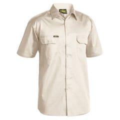 Bisley Cool Lightweight Drill Shirt - Short Sleeve - Sand