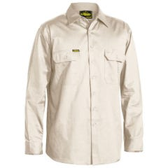 Bisley Cool Lightweight Drill Shirt - Long Sleeve - Sand