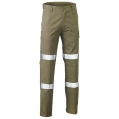 Bisley 3M Biomotion Double Taped Cool Light Weight Utility Pant - Khaki