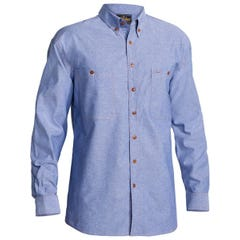 Bisley Chambray Shirt - Long Sleeve - Blue