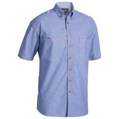 Bisley Chambray Shirt - Short Sleeve - Blue
