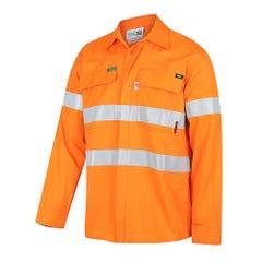 Workit FR PPE2 PARVOTEX Inherent 215gsm Ripstop Taped Shirt - Orange
