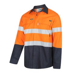 Workit FR PPE2 PARVOTEX Inherent 215gsm Ripstop Taped Shirt - Orange / Navy