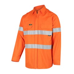 Workit FR PPE1 FLAREX Inherent 155gsm Lightweight Taped Shirt - Orange / Navy