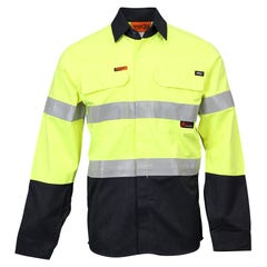 Workit Flarex Ripstop PPE2 FR Inherent 197gsm Taped Shirt - Yellow / Navy