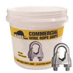 Beaver Commercial Galvanised Wire Rope Grips