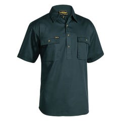 Bisley Closed Front Cotton Drill Shirt - Short Sleeve - Bottle
