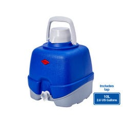 The Decor Cooler Jug with Tap Blue 10L Willow Ware