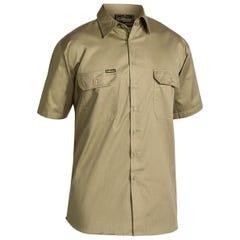 Bisley Cool Lightweight Drill Shirt - Short Sleeve - Khaki