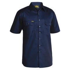 Bisley Cool Lightweight Drill Shirt - Short Sleeve - Navy