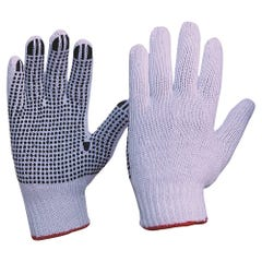 Pro Choice Knitted Poly/Cotton With PVC Dots Gloves