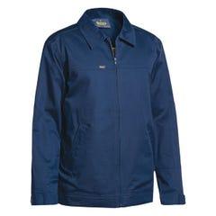 Bisley Cotton Drill Jacket With Liquid Repellent Finish - Navy