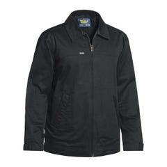 Bisley Cotton Drill Jacket With Liquid Repellent Finish - Black